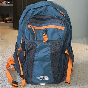 North Face Recon Backpack Blue/Orange